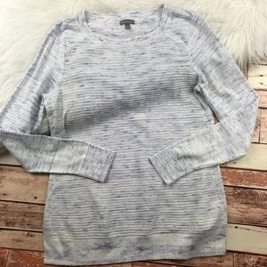 T by Talbots blue marled pullover